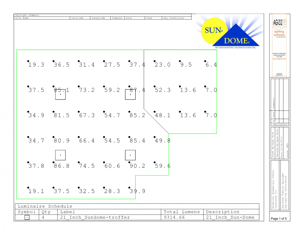 Classroom 114-Plan View