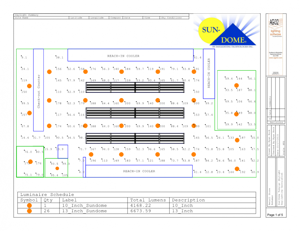 Retail Store-ACA_Bahamas_Sun-Dome Daylighting Simulation_Plan-View